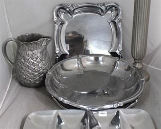 35 - Assorted silver plated items