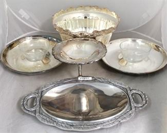 38 - Group of silver plated items