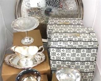 43 - Lot of silver plated items