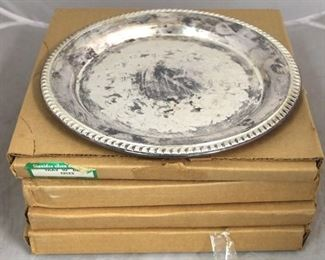 45 - 4 Silver plated serving trays