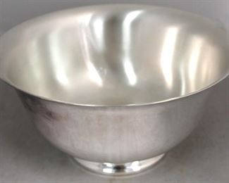 48 - Silver plated large bowl