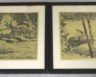 53 - Pair R H Palenske framed pictures