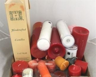 65 - Assorted candles