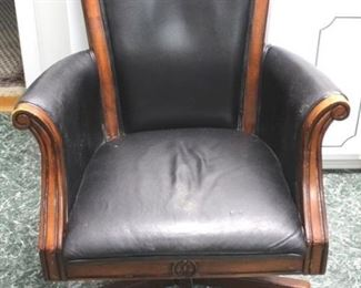 76 - Leather office chair