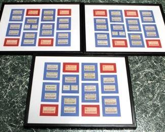 79 - Set of framed pharmacy labels