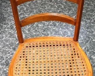 82 - Victorian walnut cane seat chair