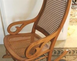 158 - Victorian cane seat & back rocker 40 x 24 x 20