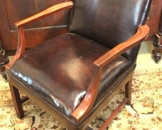 161 - Leather arm chair 36 x 25 x 20