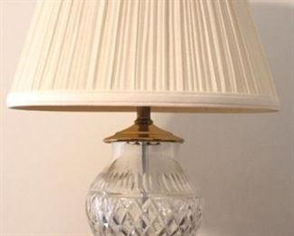 "164 - Crystal lamp 21"" tall"