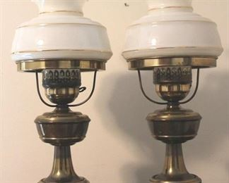 """172 - Pair matching lamps - 19"""" tall"""