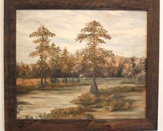 171 - M A Pennington oil on canvas painting 28 x 24