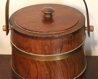 178 - Wood covered bucket 9 x 8