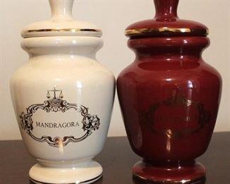 "184 - Pair apothecary jars 9"" tall"