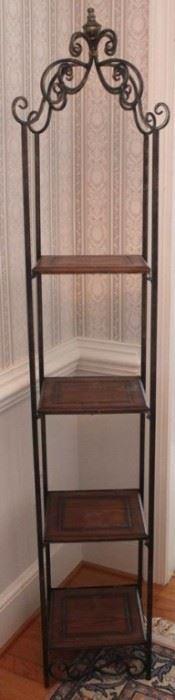 187 - Metal & wood shelf 67 x 12 x 12