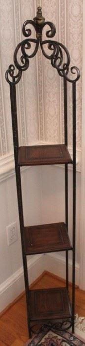 188 - Metal & wood shelf 57 x 9 x 9