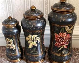 194 - 3 Piece art pottery jar set