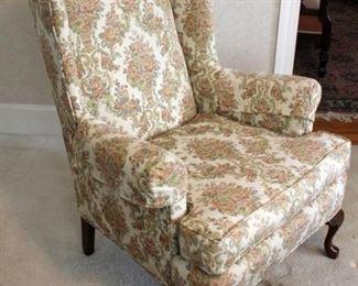 198 - Queen Anne wingback chair 43 x 30 x 29