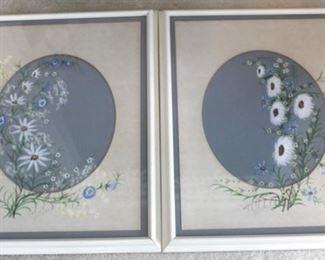 224 - Pair matching framed prints 18 x 25
