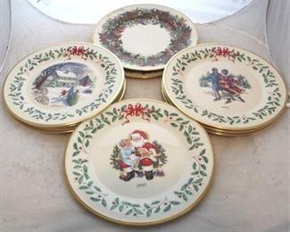 227 - 10 Lenox Christmas plates
