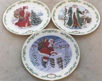 228 - Lenox Christmas plates