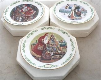 229 - Lenox Christmas plates