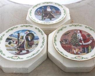 230 - Lenox Christmas plates