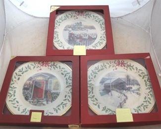 232 - Lenox Christmas plates