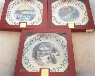 233 - Lenox Christmas plates