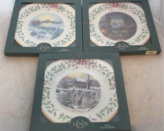 234 - Lenox Christmas plates