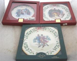 235 - Lenox Christmas plates