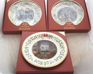 239 - Lenox Christmas plates