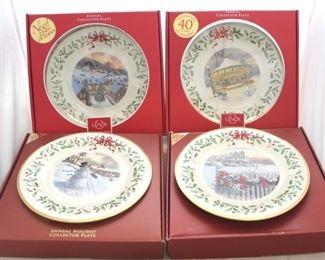 240 - Lenox Christmas plates
