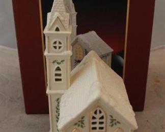 253 - Lenox Christmas village church - new in box