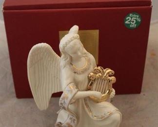 254 - Lenox Baroque angel w/ harp - new in box