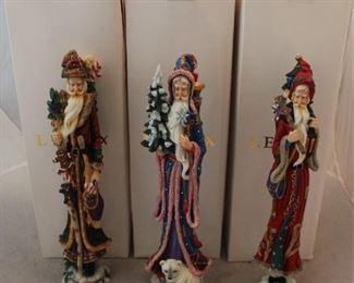 259 - 3 Lenox Santa figures with boxes