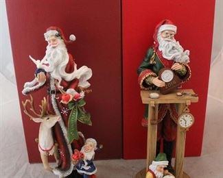 263 - 2 Lenox Santa figures with boxes