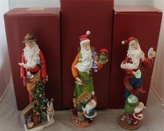 268 - 3 Lenox Santa figures with boxes