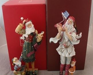 270 - 2 Lenox Santa figures with boxes