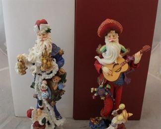 271 - 2 Lenox Santa figures with boxes