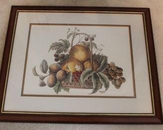 295 - Large framed print 27 x 33