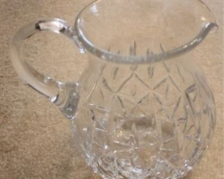 """309 - Crystal pitcher 8"""" tall"""