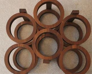 319 - Wood wine rack 13 1/2 x 14 x 9