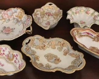 327 - 6 Pieces assorted Nippon dishes