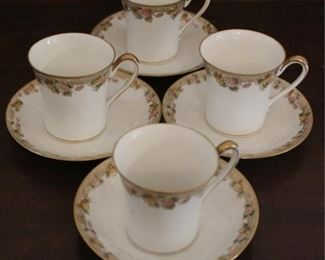 328 - 4 Nippon cups & saucers