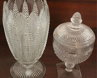 331 - Cambridge Mt. Vernon covered candy/ Pressed vase