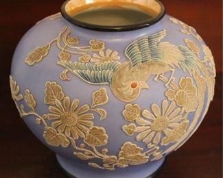 "334 - Japanese Moriage vase 7"" tall"