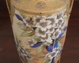 "338 - Hand painted Nippon vase - 10 1/2"" tall"