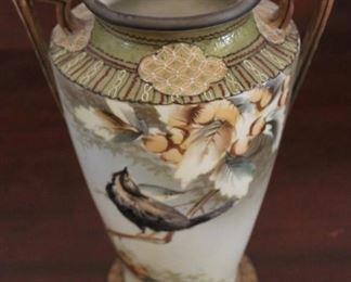 "342 - Hand Painted Nippon vase - 9 1/2"" tall"