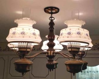 353 - Vintage hanging chandelier 24 x 17