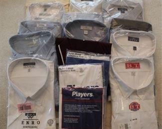 357 - Group assorted men's dress shirts - new